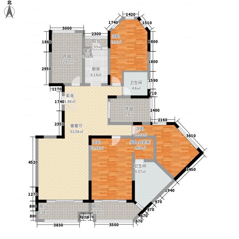 万科金域华庭185.00㎡万科金域华庭户型图榆景阁A02单位3室2厅2卫1厨户型3室2厅2卫1厨