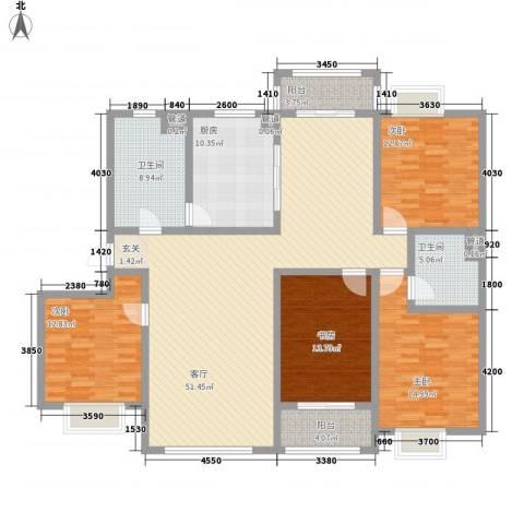 开元公寓4室1厅2卫1厨198.00㎡户型图