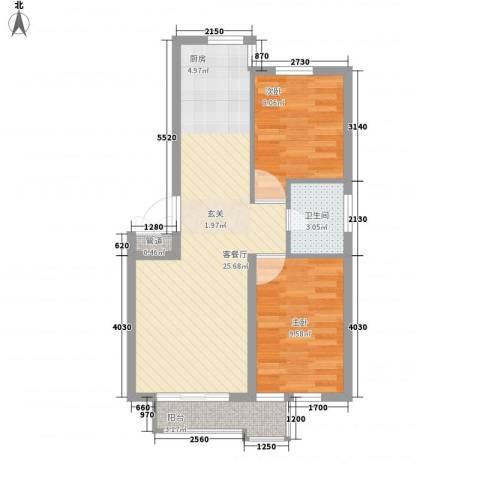 新港假日2室1厅1卫0厨72.00㎡户型图