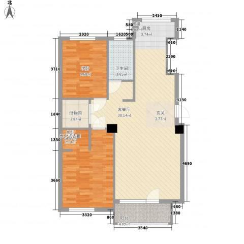 解放广场2室1厅1卫0厨102.00㎡户型图