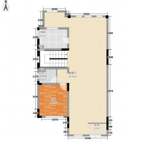 绿地・内森庄园1室1厅1卫1厨132.00㎡户型图
