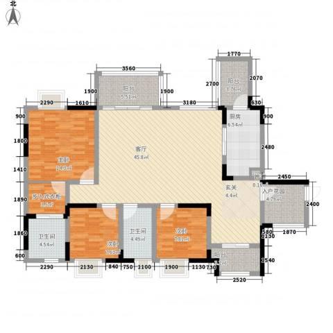 融创御锦3室1厅2卫1厨112.02㎡户型图