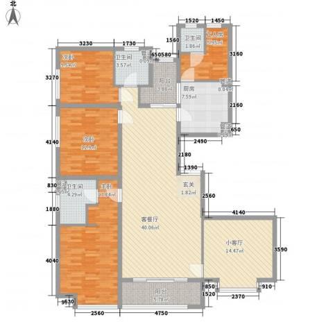 新天地鹭港3室1厅3卫1厨184.00㎡户型图