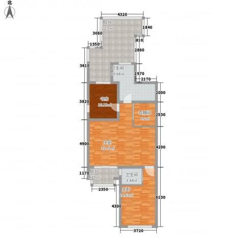 融创长滩壹号3室0厅2卫0厨149.00㎡户型图