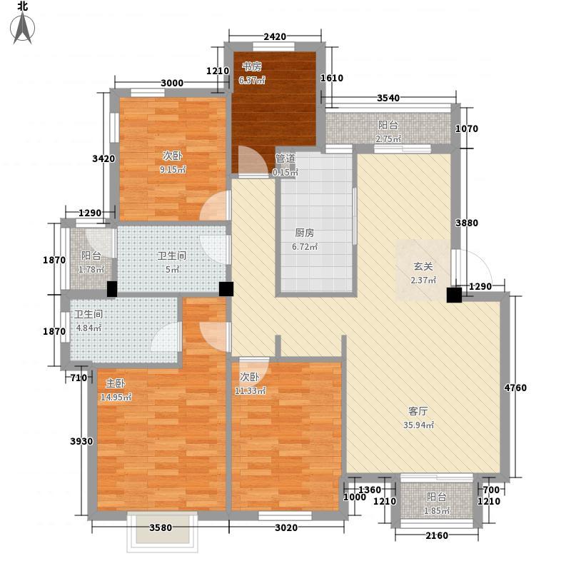 茶苑小区户型4室2厅2卫1厨