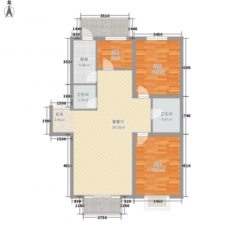 金奥新城113.00㎡金奥新城户型图3室2厅2卫户型10室