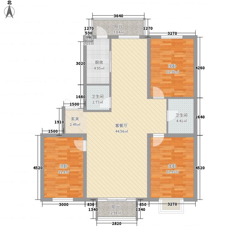 金奥新城127.00㎡金奥新城户型图3室2厅2卫户型10室