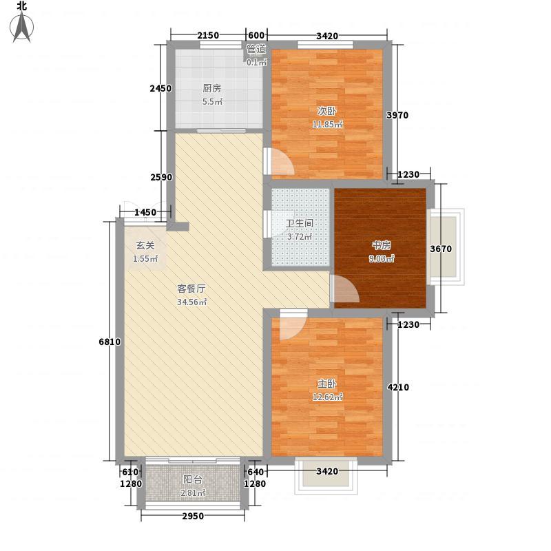 金奥新城102.00㎡金奥新城户型图3室2厅1卫户型10室