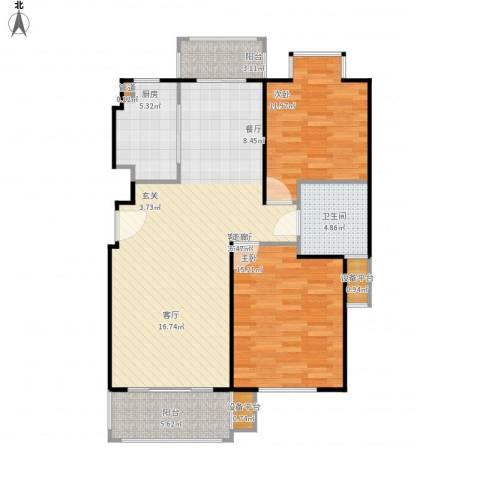 证大家园2室1厅1卫1厨112.00㎡户型图