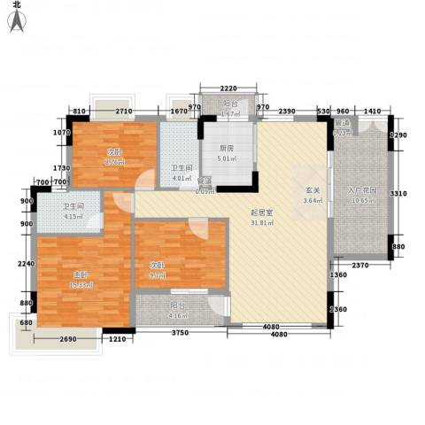 新中银花园3室0厅2卫1厨118.00㎡户型图
