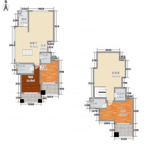 颐顺园3室1厅4卫1厨151.79㎡户型图