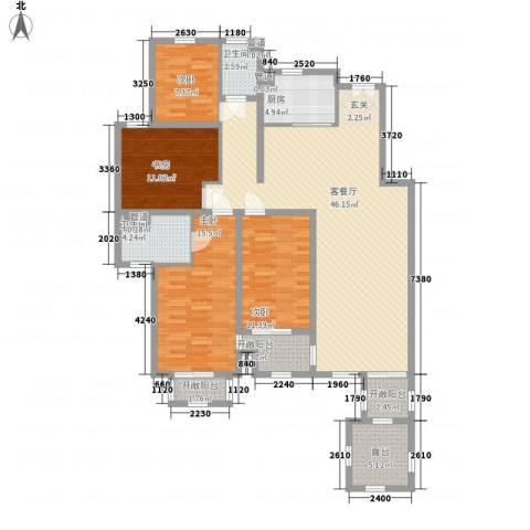 紫御美墅4室1厅2卫1厨128.00㎡户型图
