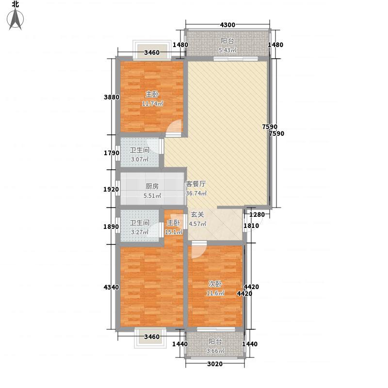 西城新都115.10㎡G户型3室2厅2卫1厨