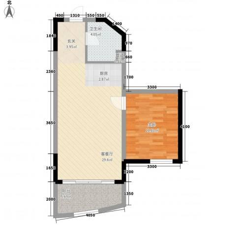 博鳌海御1室1厅1卫0厨70.00㎡户型图