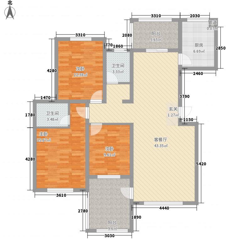公元2099137.46㎡15#楼户型3室2厅2卫1厨