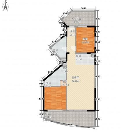 博鳌海御2室1厅2卫0厨130.00㎡户型图