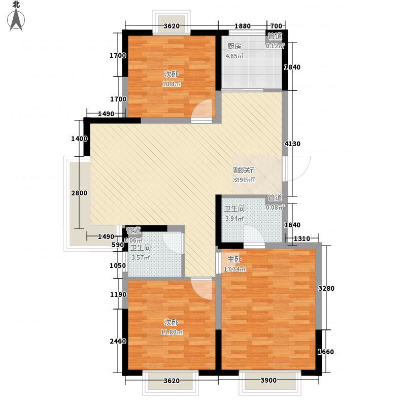 金地名京120.00㎡金地名京户型图22#西山户型3室2厅2卫户型3室2厅2卫