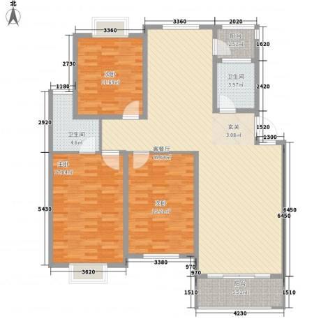 万颐苑3室1厅2卫0厨155.00㎡户型图