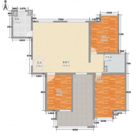 新兴大厦3室1厅1卫1厨200.00㎡户型图