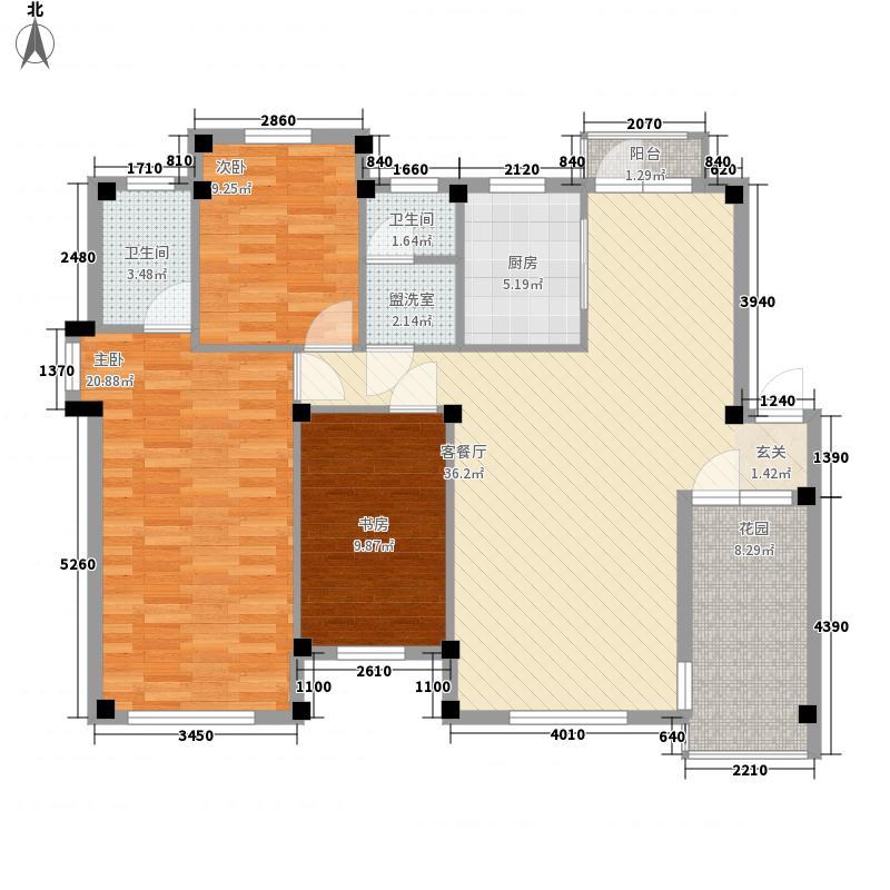 汤泉香格里137.00㎡汤泉香格里户型图3室2厅2卫1厨户型10室