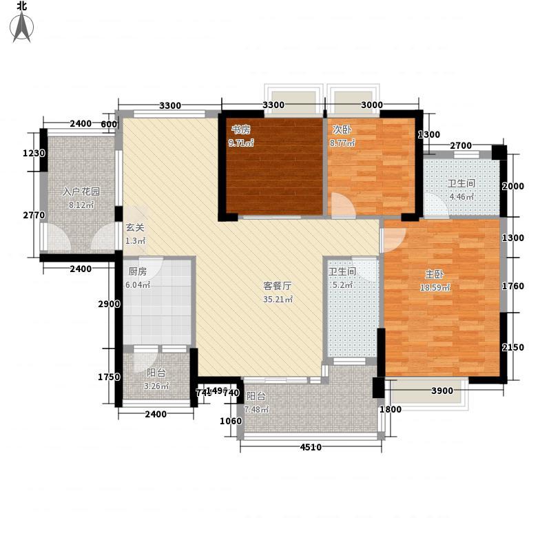 浩盛嘉泽园13.00㎡B3户型3室2厅2卫1厨