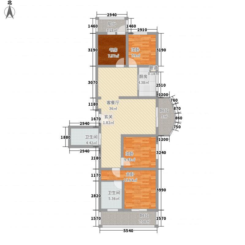 珠峰苑152.31㎡珠峰苑户型图2号楼E户型4室2厅2卫1厨户型4室2厅2卫1厨