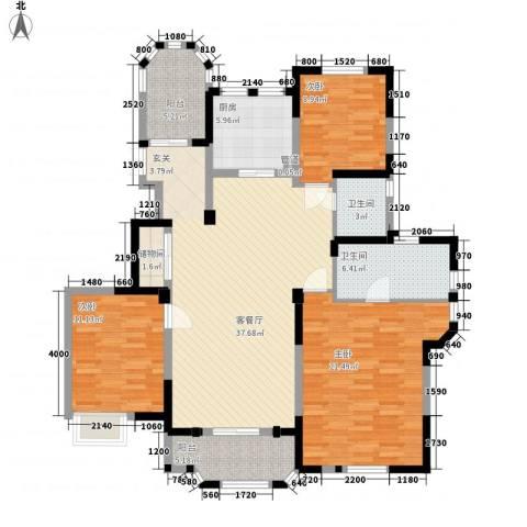 紫金英郡3室1厅2卫1厨142.00㎡户型图