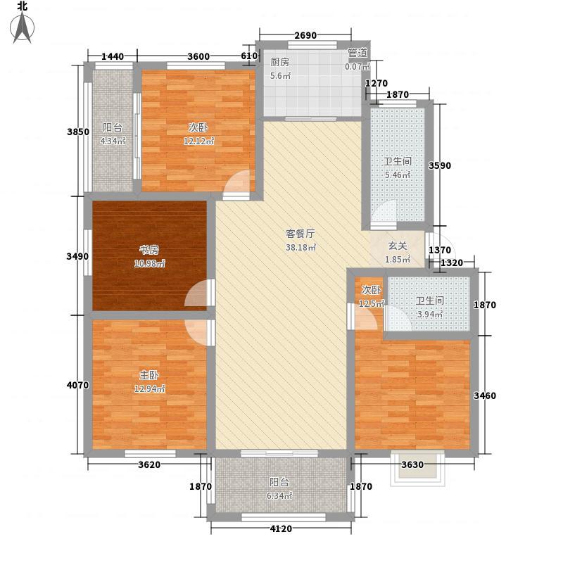 会昌天玺湾143.30㎡G2户型4室2厅2卫1厨