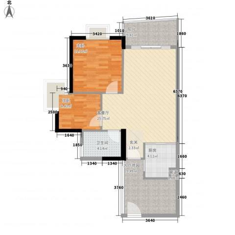 盛和新都会.2室1厅1卫1厨79.00㎡户型图