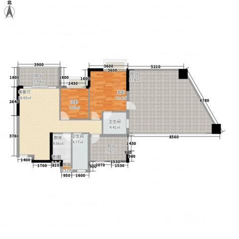 嘉景华庭2室1厅2卫1厨112.50㎡户型图