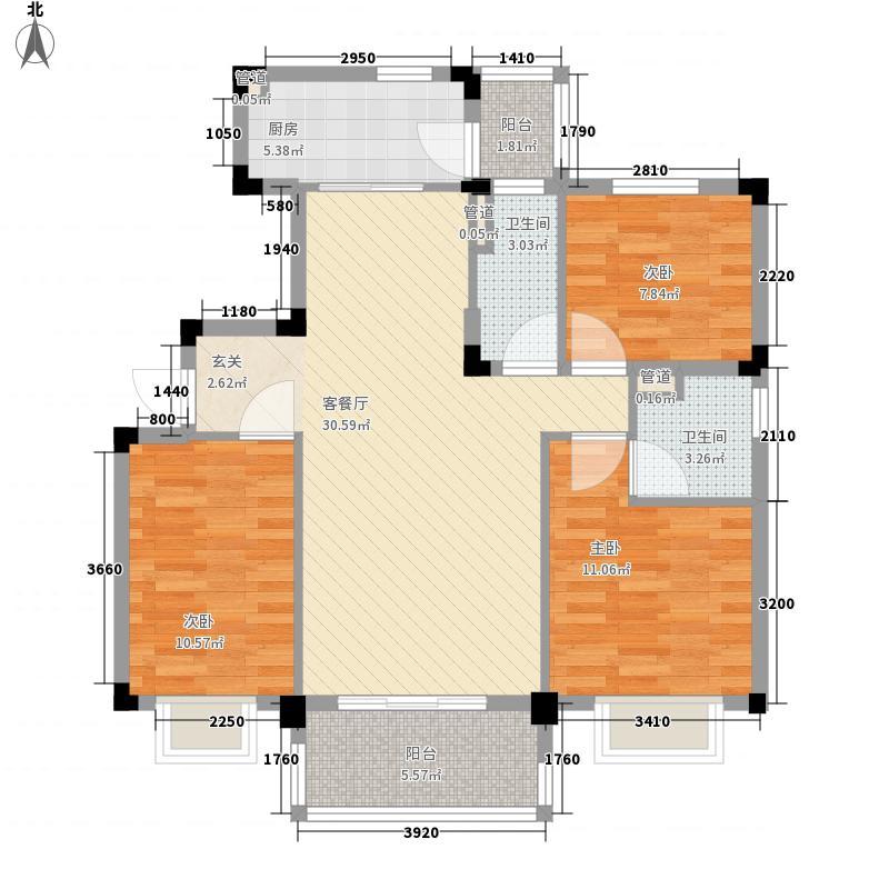 碧桂园凤凰城115.00㎡芷兰湾组团03-YJ115户型3室2厅2卫1厨