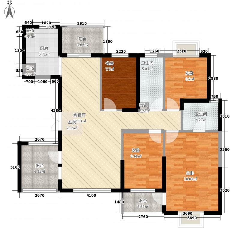 骏马山庄125.00㎡骏马山庄4室户型4室