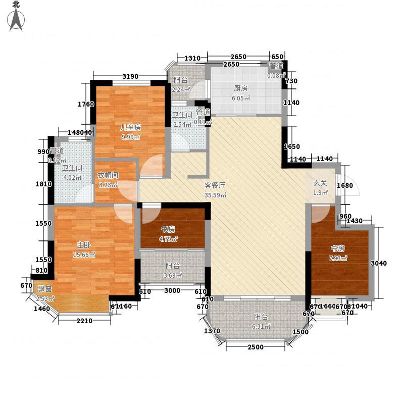 福鼎碧桂园134.30㎡J622-A户型4室2厅2卫1厨