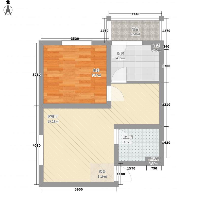 天擎・书林院57.57㎡天擎・书林院户型图A2户型1室2厅1卫1厨户型1室2厅1卫1厨