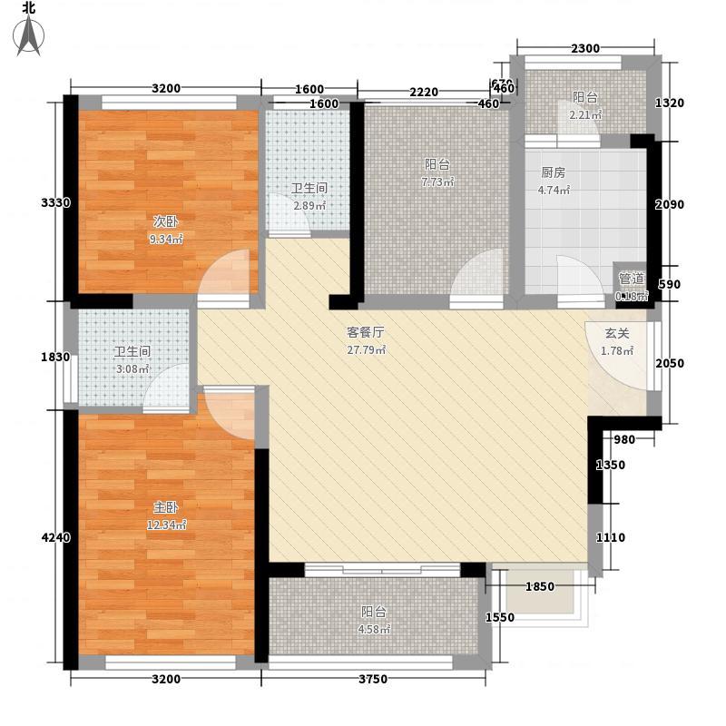 宏发君域89.00㎡宏发君域户型图1栋A03户型2室2厅2卫1厨户型2室2厅2卫1厨