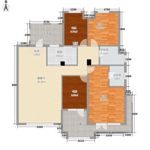 正源吉祥e家2室1厅2卫1厨152.00㎡户型图