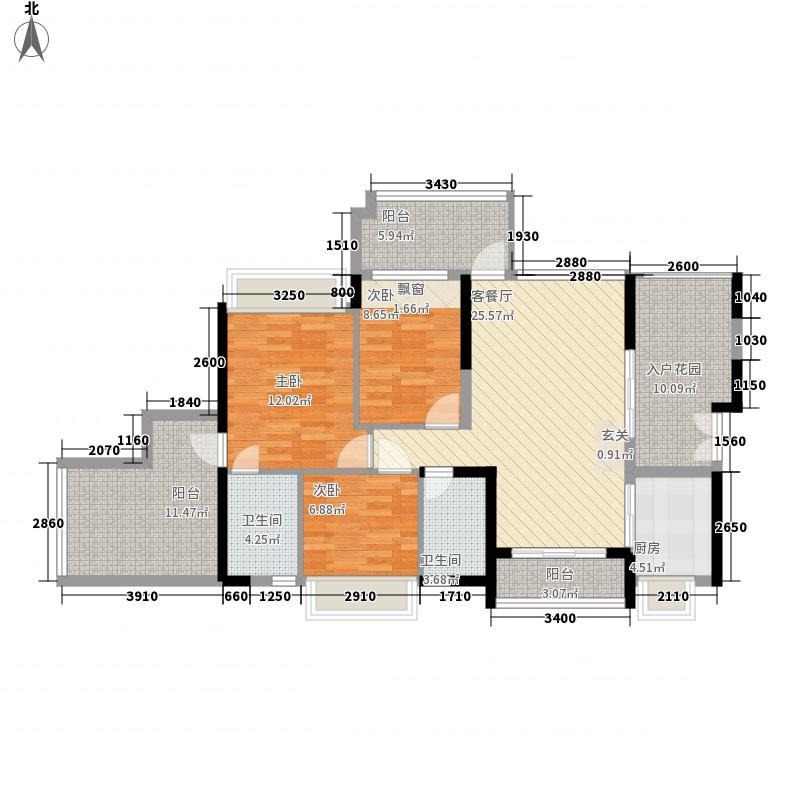 圣淘沙骏园103.18㎡深圳圣淘沙骏园户型图3户型10室