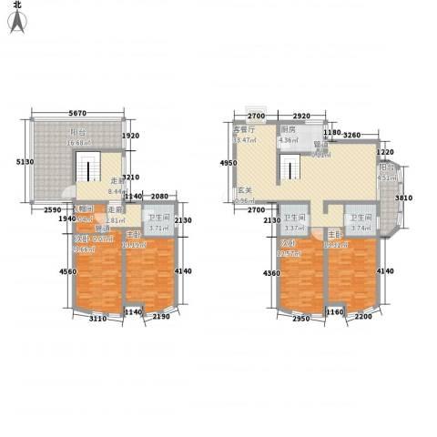 世纪东山4室1厅3卫1厨198.00㎡户型图