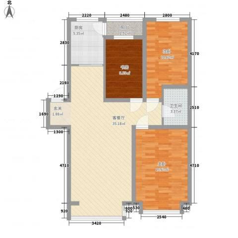 阳光苑3室1厅1卫1厨116.00㎡户型图