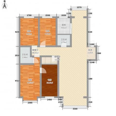 阳光苑4室1厅2卫1厨151.00㎡户型图