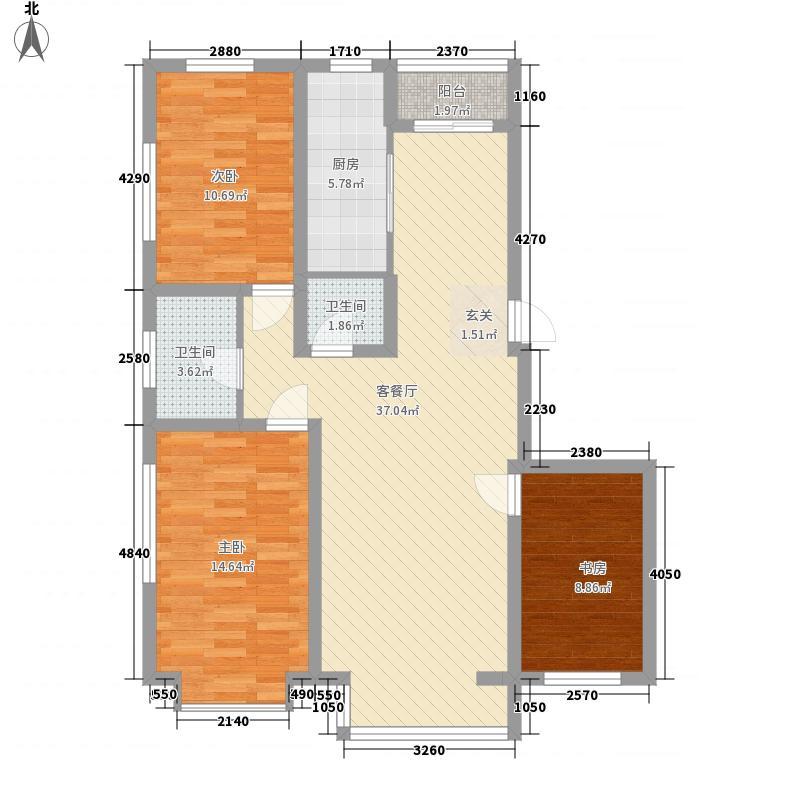阳光苑119.96㎡阳光苑户型图B户型3室2厅2卫1厨户型3室2厅2卫1厨