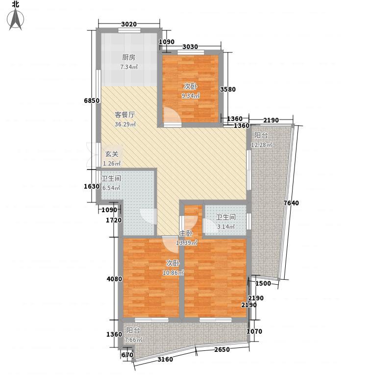 紫鑫豪庭141.00㎡38幢b-D户型