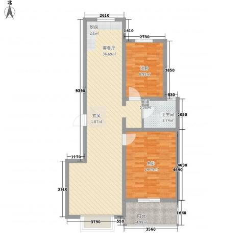 福馨景苑2室1厅1卫0厨78.96㎡户型图