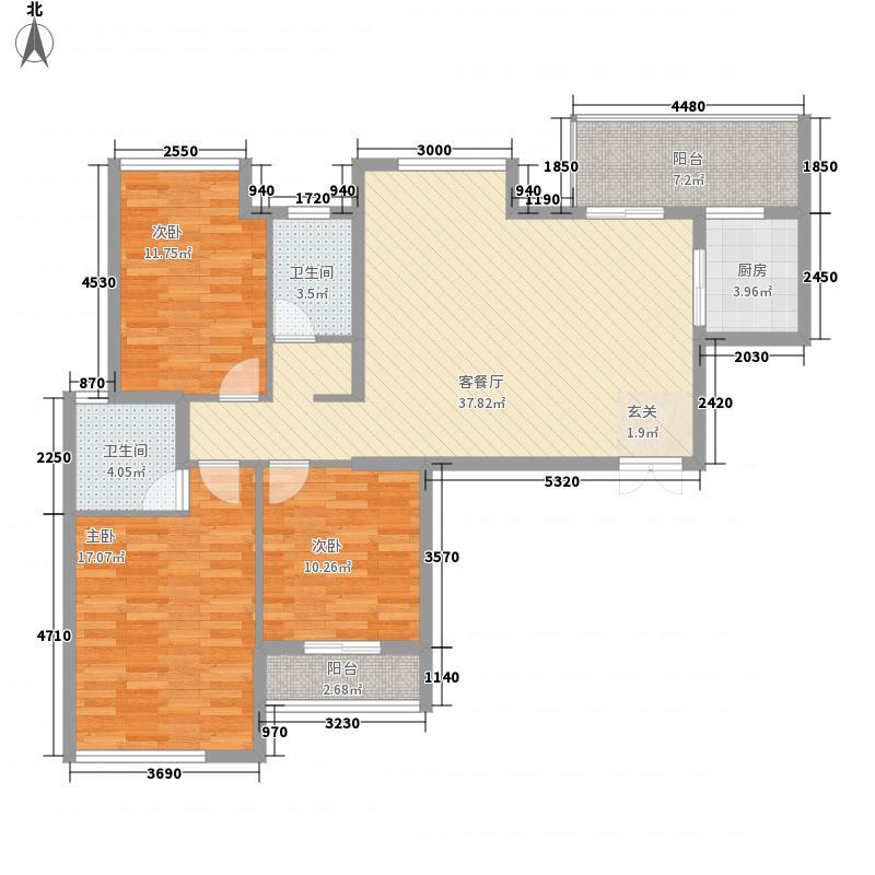 枫河雅居29户型2室2厅1卫1厨