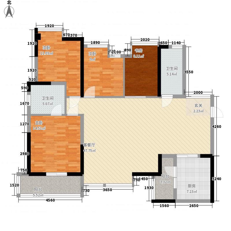观城141.00㎡一期B2/B5户型3室2厅2卫1厨