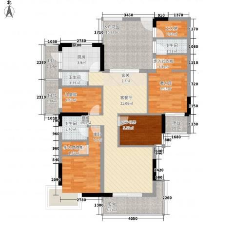 雅豪苑3室1厅3卫1厨120.00㎡户型图