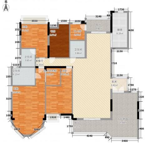 合生君景湾4室1厅3卫1厨225.00㎡户型图