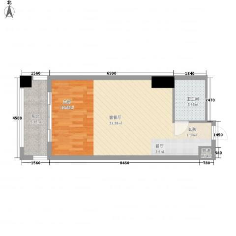 金湾畔1厅1卫0厨47.60㎡户型图