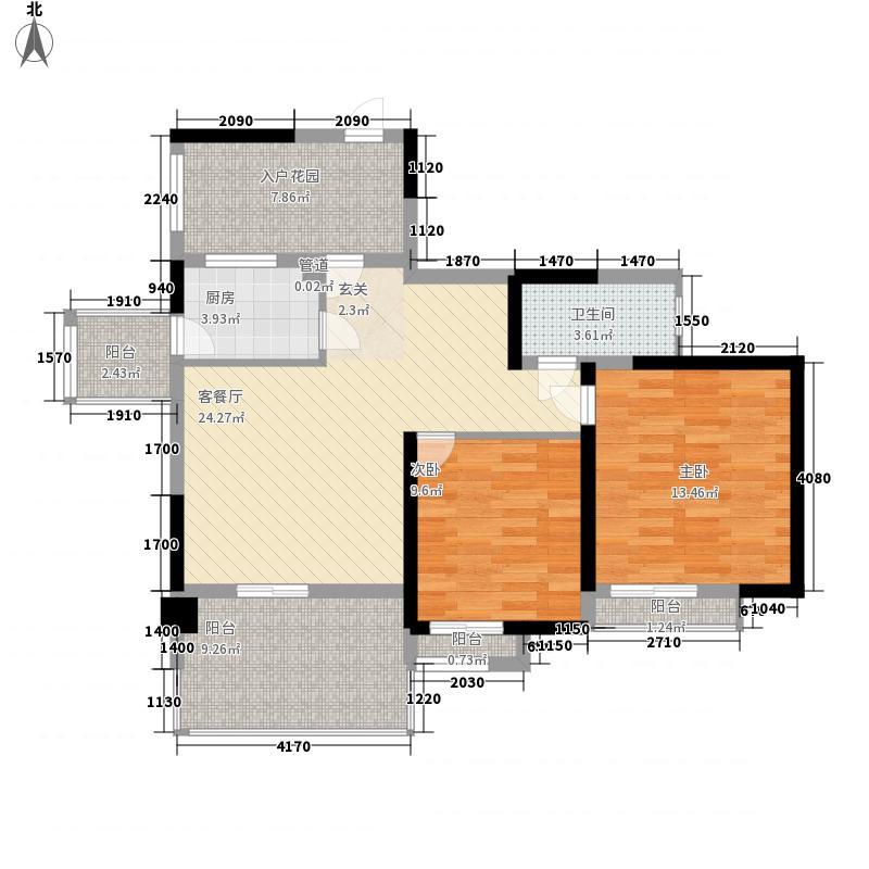 南光城市花园81.00㎡南光城市花园户型图南光户型D2户型二房二厅81平2室2厅户型2室2厅