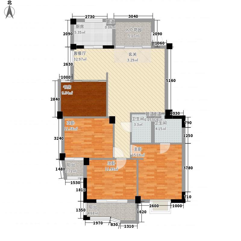 水木菁华140.51㎡水木菁华户型图3室2厅2卫1厨户型10室